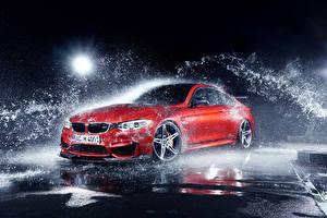 Фотографии BMW Красные С брызгами M4 Coupe F82 by AC-Schnitzer Export Version машина