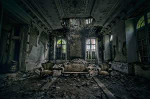 Картинки Развалины Комната Старый Диване DESTROYING ANGEL