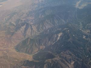 Фото США Горы Калифорния Сверху Природа