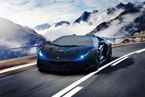 Фотография Lamborghini Стайлинг Роскошная Синие Aventador Hyper Supercar Автомобили
