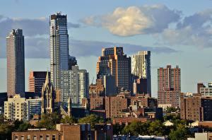 Обои Штаты Здания Небоскребы Нью-Йорк brooklyn Города