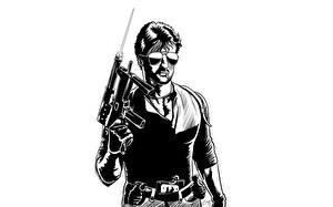 Фотография Sylvester Stallone Векторная графика Мужчины Очки Cobra Кино Знаменитости
