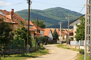 Картинки Венгрия Здания Дороги Улица Cserepfalu Города
