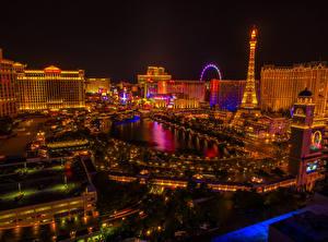 Фотографии США Здания Лас-Вегас Ночь