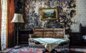 Картинки Ретро Стол Диване Комнаты Старые