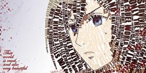Фото Взгляд Слово - Надпись Mikasa Ackerman Девушки