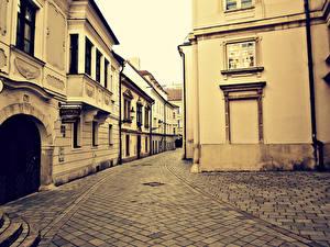 Картинка Словакия Дома Улице Bratislava город