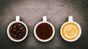Фото Кофе Напиток Вблизи Капучино Трое 3 Чашке Зерна Björn Wunderlich Продукты питания