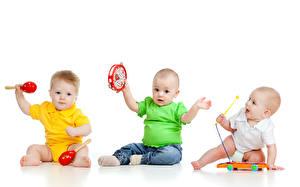 Обои Игрушки Младенцы Три ребёнок