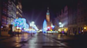 Фото Польша Гданьск Ночь Улица