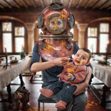 Фотография Грудной ребёнок John Wilhelm, Journey to the Center of the Pulp Смешные Дети