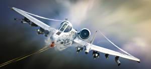 Фото Истребители Самолеты A-10 Thunderbolt II Штурмовики Warthog