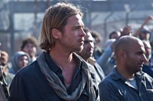 Картинки Brad Pitt Мужчина Война миров Z Фильмы Знаменитости
