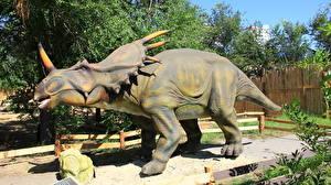 Фотографии Древние животные Динозавры Волгоград Styracosaurus Животные