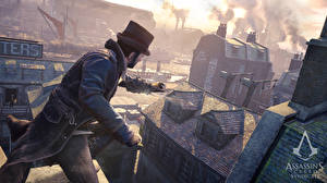 Картинки Assassin's Creed Syndicate Мужчины Здания Шляпы компьютерная игра