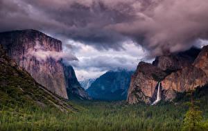 Обои Парк США Горы Пейзаж Йосемити Скала Sierra Nevada Природа