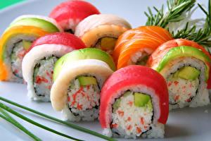 Обои Морепродукты Суши Рис