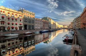 Фотография Санкт-Петербург Россия Река Набережная Водный канал Moyka River город