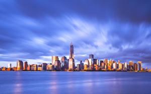 Фотографии Штаты Небоскребы Нью-Йорк Города