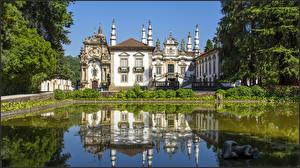 Фото Португалия Здания Вилла Пруд Vila Real