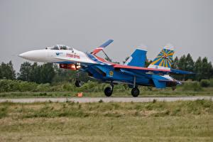 Обои Самолеты Истребители Су-27 Авиация