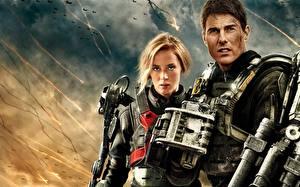 Фотографии Tom Cruise Emily Blunt Мужчины Воины Edge of Tomorrow 2014 Кино