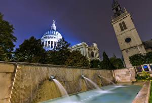 Картинки Великобритания Фонтаны Лондоне