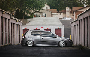 Фотографии Volkswagen Сбоку golf MK5 stance Автомобили