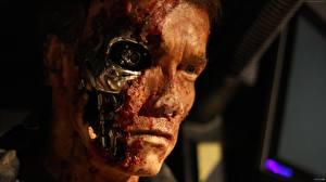 Картинка Терминатор: Генезис Arnold Schwarzenegger Роботы Лицо Фильмы