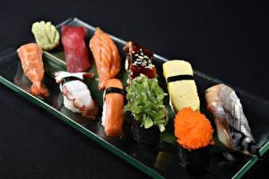 Фотография Морепродукты Суши Рыба Икра