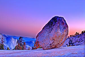 Фото Штаты Парки Камни Йосемити Скале HDR Природа