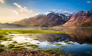 Обои Италия Озеро Горы Пейзаж Природа фото