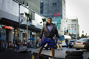Фото Will Smith Хэнкок Мужчины Улица John Hancock Фильмы Города Знаменитости