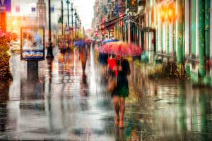 Фотография Санкт-Петербург Россия Дождь Улица Зонт Nevsky Prospect Города