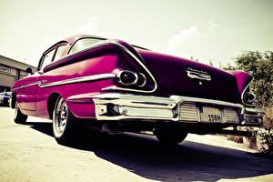 Фото Chevrolet Винтаж Фиолетовый Сзади markus spiske oldtimer Chevrolet машины