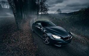 Картинка БМВ Дороги Ночные Тумане Черные m6 автомобиль