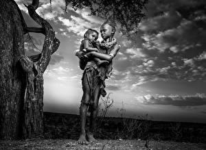 Фото Африка Негр Ethiopia Дети