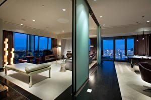 Обои США Интерьер Лас-Вегас Отель State of Nevada luxury penthouse palms hotel