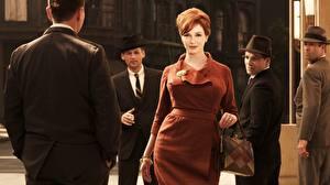Фотография Мужчины Платье Классический костюм Christina Hendricks Mad Men Joan Harris Фильмы Знаменитости Девушки