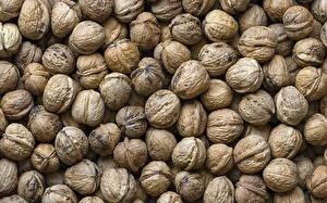 Обои Орехи Много Вблизи Текстура Продукты питания Еда