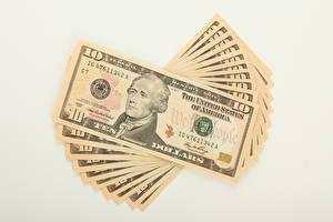 Обои Деньги Доллары Купюры 10, Hamilton фото