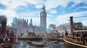 Фотографии Assassin's Creed Syndicate Лондон Биг-Бен Игры Города