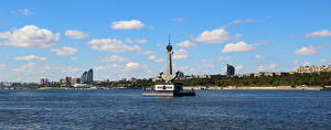 Картинка Памятники Речка Волгоград Monument to Fallen River Workers on Volga Города