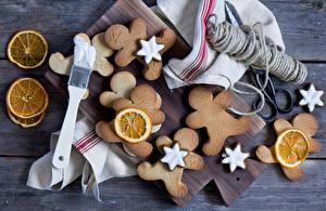 Картинка Печенье Апельсин Выпечка Продукты питания