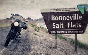 Обои США bonneville salt flats utah Мотоциклы фото