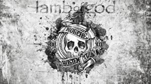 Обои Черепа Логотип эмблема Lamb of God NWoAHM Музыка фото