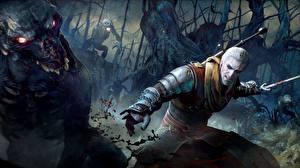Обои The Witcher 3: Wild Hunt Битвы Геральт из Ривии foglings CD Projekt RED Игры Фэнтези фото