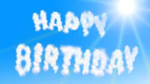 Фотографии День рождения Небо Праздники Облака Солнца