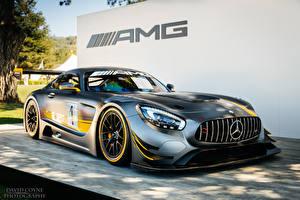 Фото Мерседес бенц Стайлинг Серебристый Mercedes AMG GT Автомобили