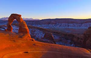 Обои Штаты Парк Утес Каньона Utah Arches National Park Природа